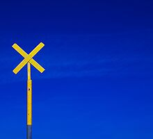 Yellow cross by Paul Clifford Bannister