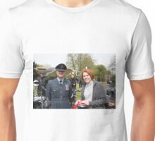 VE Day charity motorbike ride from St Georges Chapel in Biggin Hill Unisex T-Shirt