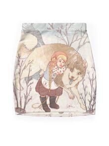 The Little Snow Girl Mini Skirt