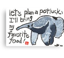 Potluck Party (Anteater) Canvas Print