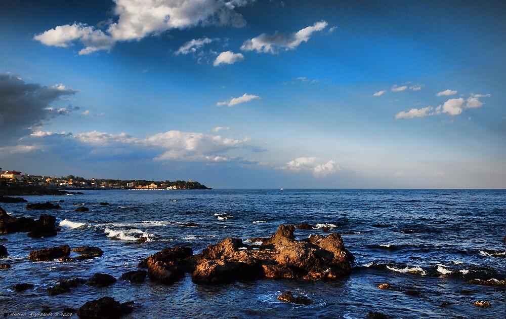 Nuvole sul mare di Capomulini, Sicily by Andrea Rapisarda