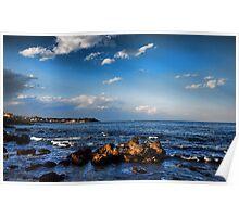 Nuvole sul mare di Capomulini, Sicily Poster