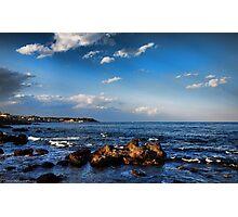 Nuvole sul mare di Capomulini, Sicily Photographic Print
