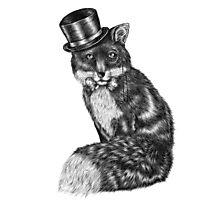 Fancy Animals: Gentleman Fox Photographic Print