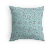 Flowers and Frog Eggs Throw Pillow
