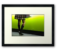 knee high socks Framed Print