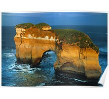 The Island Arch at Loch Ard Gorge near The Twelve Apostles, Victoria, Australia. Poster