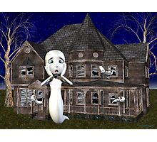 Haunted House .. a ghosts tale Photographic Print