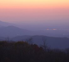 Blue Ridge Mountains At Dusk by Stephen Vecchiotti