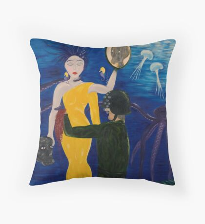 Our minds in my hands Throw Pillow