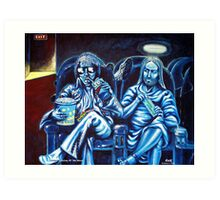 Elvis and Jesus At The Movies Art Print