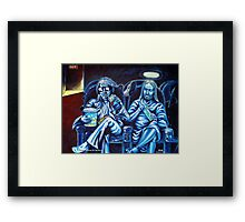 Elvis and Jesus At The Movies Framed Print