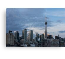 Up Close And Personal - Toronto's Skyline From The Island Airport Canvas Print