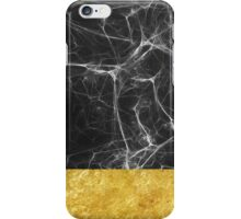 Black Marble and Gold iPhone Case/Skin