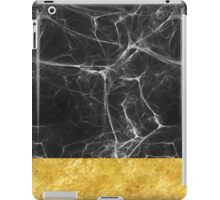Black Marble and Gold iPad Case/Skin