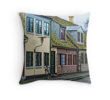 Odense Houses Throw Pillow