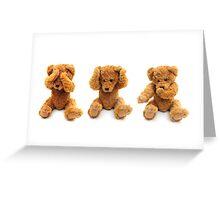 Three wise bears Greeting Card