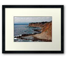 Azure Blue Framed Print