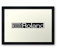 Roland Vintage Funny Geek Nerd Framed Print