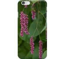Pink Flowers with Leaves iPhone Case/Skin