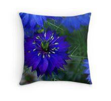 Deep Blue Nigella Throw Pillow