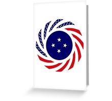 Micronesian American Multinational Patriot Flag Series Greeting Card