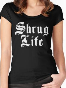Shrug Life Funny Geek Nerd Women's Fitted Scoop T-Shirt