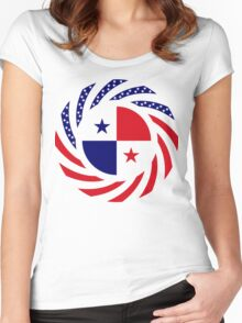 Panamanian American Multinational Patriot Flag Series Women's Fitted Scoop T-Shirt