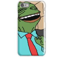 Pepe is smug iPhone Case/Skin