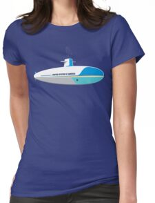 Submarine One Funny Geek Nerd Womens Fitted T-Shirt