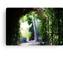 Enter The Garden Canvas Print