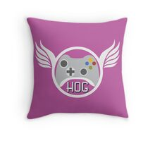 Head of Gaming Pink Throw Pillow