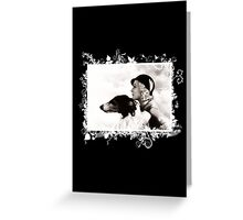 Vintage Design - Lady and Hound - classy! Greeting Card