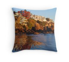 Corona Del Mar Coast Throw Pillow