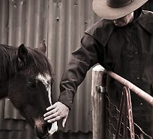 Man and his horse by MagnusAgren