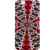 Red Black White Pattern iPhone Case/Skin