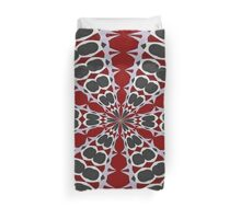 Red Black White Pattern Duvet Cover