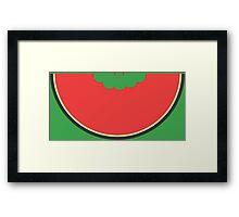 Water Melon Funny Geek Nerd Framed Print