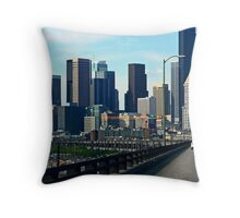 Seattle Viaduct View Throw Pillow