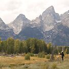 Artist in the Tetons by Christopher  Boswell