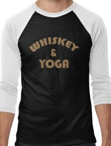 Whiskey & Yoga Funny Geek Nerd Men's Baseball ¾ T-Shirt
