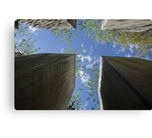 Berlin Holocaust memorial of stone slabs to Jews murdered during 2nd world war in Europe Canvas Print