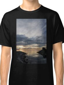 Waterscape In Gray And Yellow Classic T-Shirt