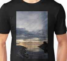 Waterscape In Gray And Yellow Unisex T-Shirt