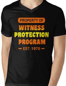 Witness Protection Program Funny Geek Nerd Mens V-Neck T-Shirt