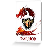 Guild Wars 2 Warrior  Greeting Card