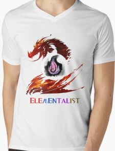 Guild Wars 2 Elementalist Mens V-Neck T-Shirt