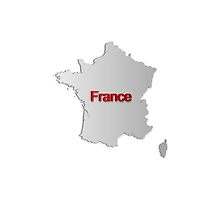 Map of France by gruml