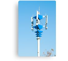 Blue and white Mobile Phone Communications Tower  Canvas Print