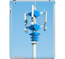 Blue and white Mobile Phone Communications Tower  iPad Case/Skin